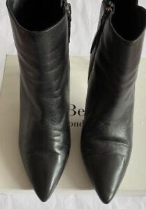 LK Bennett Maja Leather Black Ankle Boots UK 9 42 RRP £295 99p No Reserve!!