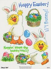 Suzys Zoo Scrapbooking Stickers 25 Sheets Easter Bunny Rabbit Egg Down the Trail