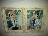 FRENCH HULDAH LADY PAINTINGS FRENCH FARMHOUSE PAINT BY NUMBERS PROVENCAL FRAMES