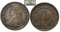 1827/6 50c Capped Bust Silver Half Dollar - NGC AU 55 - SKU-B1001