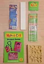 Clay Craft Project Texture Sheet Push Mold & Mixing Ruler Lot