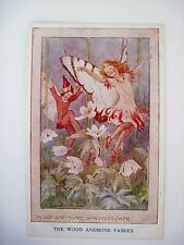 """Vintage """"The Wood Anemone Fairies"""" Postcard signed by Margaret Tarrant *"""