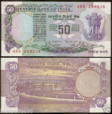 ★★★ 50 Rupees ~ K.R Puri ~ Without Flag ~ UNC ~ F2 ~ ★★★ bb85