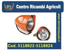 COPPIA FANALI ANTERIORI SX+DX ARANCIO TRATTORE FIAT SERIE ORO 540-640-605c ecc