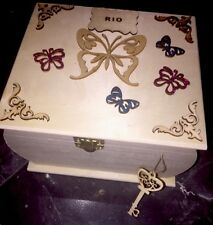 Wooden XL large Keepsake Memory Box Chest Personalised Woman, Child Baby GIFT