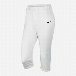 Nike Diamond Invader 3/4 Training Softball Pant Women's Medium White 700877-100