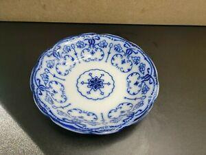 Antique / Vintage Cobalt Flow Blue Serving Bowl 9'' W