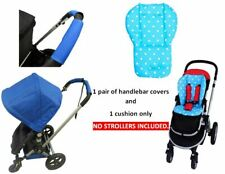 Pink Blue Polka Dot Cushion Pad Handlebar Covers Protect for EVENFLO Strollers