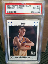 2007 Topps # 10 Spencer Hawes RC PSA EX-MT 6.....KINGS---B-4449