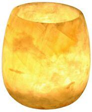 Egyptian Soft white alabaster stone hand carved candle holder votive