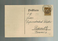 1923 Berlin Germany Inflation Postcard cover to Pommern