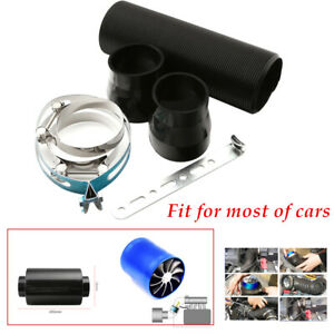 """3""""Filter Box Title Carbon Fiber Induction Ram Cold Air Intake System  W/Turbo"""