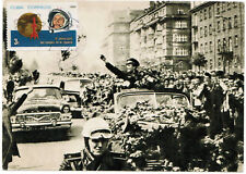 Soviet Postcard Yuri Gagarin The first cosmonaut 1969 CUBA SPACE USSR