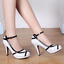 Fashion Women Vintage Dress Retro Party Prom High Heels Pumps Bridal Shoes
