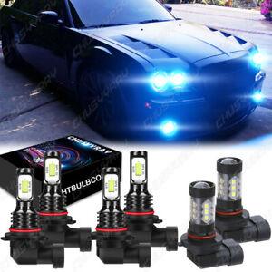 Combo 9005+9006+H10 LED Headlight and Fog Light Bulbs Kit High&Low Beam 8K Blue