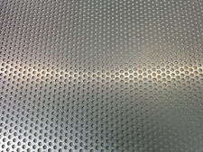 2,00 m Aluminium-Lochblech in Streifen, Zuschnitt, Größe nach Wahl.