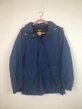 (U13) REI Womens Blue Full Zip Hooded Jacket parka with Pockets Size 10