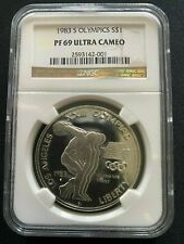 1983 S Olympics Silver $1 Coin Us Mint Commem Ngc Pf 69 Ultra Cameo (Lo1)