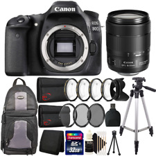 Canon EOS Rebel 80D 24.2MP DSLR Camera 18-135 IS USM Lens Top Accessory Bundle