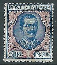 1901 REGNO FLOREALE 5 LIRE MNH ** - Y142