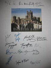 Downton Abbey Signed Script X16 Hugh Bonneville Findlay Carter Coyle Smith repnt