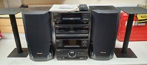 Technics HiFi CD Tape Deck Tuner Sound Processor Amplifier Speakers - CIS W64