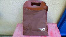 sac de voyage UTA toile marron et simili cuir vintage