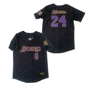 Black Mamba Baseball Jerseys Legend 8 24 Mamba Jersey Outdoor Sportswear