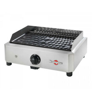 Krampouz Mythic Electric Barbecue BBQ Grill 1700 Watt - Free Cooking Apron