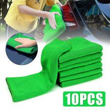 10PCS lavado de coches Toalla de microfibra paño de limpieza de secado dobladillado Súper Absorbente