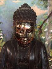 Antique Buddha - Minh Mang Era - Fine Wood Lacquer Vietnamese -200 Yrs Old