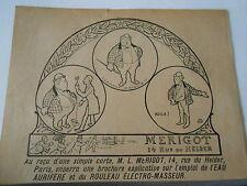 Merigot Rouleau Electro-Masseur  Pub image print 1900