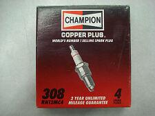 4 Pack of Spark Plug-Copper Plus Champion Spark Plug RN12MC4 308 Brand New
