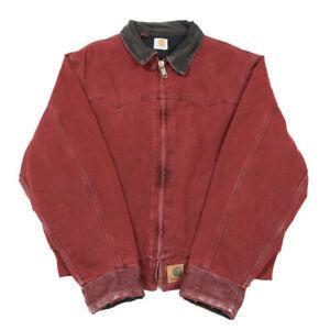 CARHARTT Quilt Lined Sante Fe Bomber Jacket | Large | Work Canvas Duck Vintage