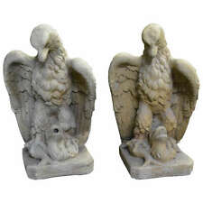 Pair of Garden Cast Stone Eagles with Provenance