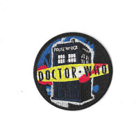 DOCTOR WHO TARDIS Iron on / Sew on Patch Embroidered Badge Motif TV PT283