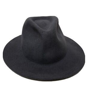 Olive & Pique Grey 100% Wool Fedora Hat