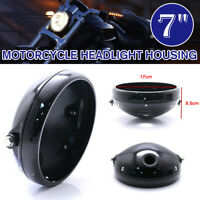 🔥 Aluminum Motorcycle 7'' Headlight Housing Headlamp Light Cover Shell  g