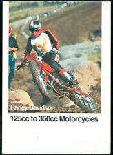 Brochure HARLEY DAVIDSON 125 175 250 350 SX / SST / SS Dépliant Fr - UK -It -All