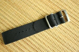 22MM NYLON RACER DIVER YACHT AVIATOR SILVER BUCKLE WATCH BAND STRAP FOR OMEGA 04
