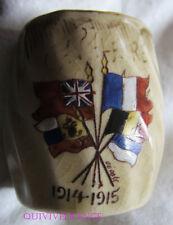 PETIT POT CERAMIQUE 1914-1915 - DRAPEAUX ALLIES