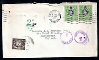 Jamaica 1961 Postal History Cover 2d Postage Due To Pay WS18221