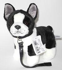 Neuware wunderschöner Hund Französische Bulldogge Bully ca. 23cm hoch mit Leine
