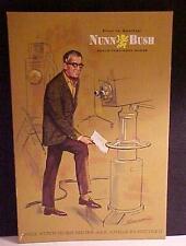 Nunn Bush Countertop Sign-Original-Mens-TV Camera-Graphics-Easel Back