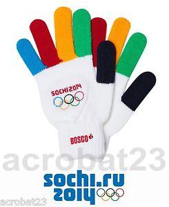 Gloves Official Merchandise XXII Winter Olympic Games Sochi 2014 Bosco Sport New