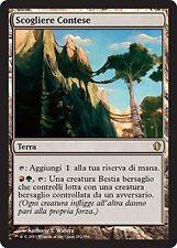 2x Scogliere Contese - Contested Cliffs MTG MAGIC C13 Commander 2013 Ita