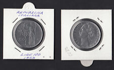 ITALIA LIRE 100 del 1959 Dea Minerva Ottima conservazione Sigillata vedi foto