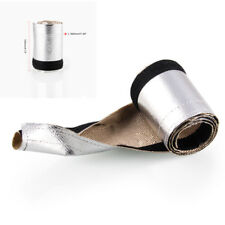 Car Truck Metallic Heat Shield Thermal Sleeve Insulated Cover Roll L*W 910*85mm