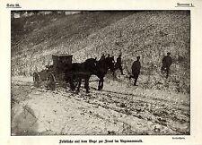 1915 * Feldküche auf dem Wege zur Front im Argonnenwald *  WW1
