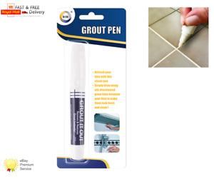 GROUT PEN WHITE REFRESH Brighten Discoloured Whitening Bathroom Kitchen Tile